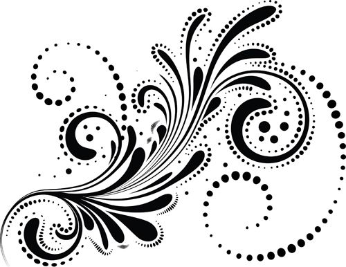 Swirls decor design vector set 05 - Vector Frames & Borders free ...