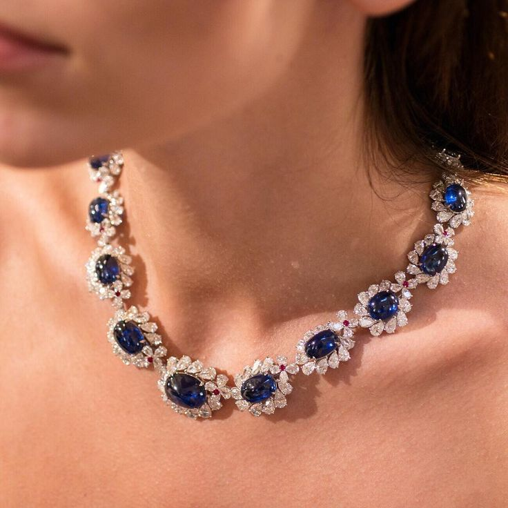 """248 Likes, 6 Comments - Faidee (@faideeofficial) on Instagram: """"Faidee necklace with Burmese sapphires fashioned as cabochons to show off their royal blue colour…"""""""
