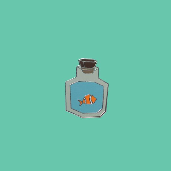 Legend of Zelda Bottled Fish Lapel Pin by CREATIVEADVNTR on Etsy