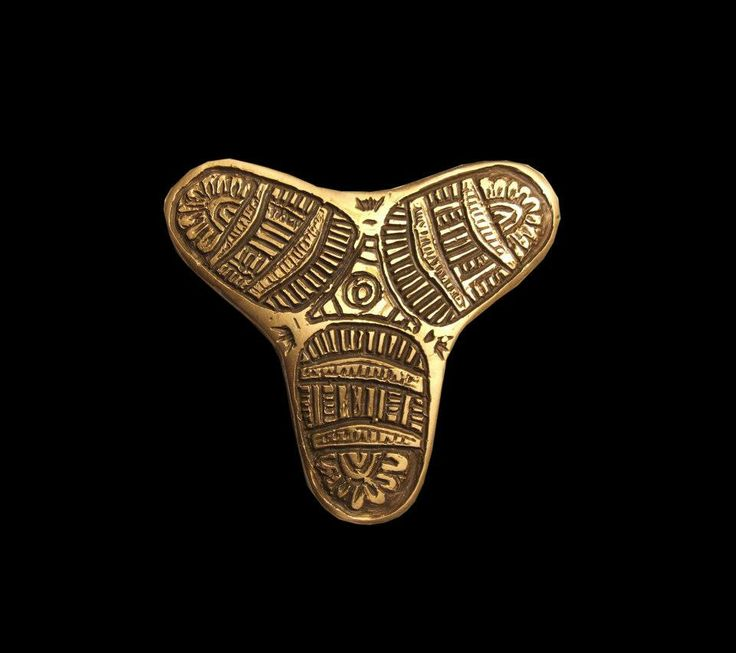 Trifoil brooch, Kaupang, Norway, 10th c.