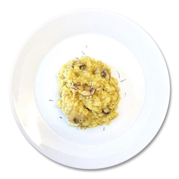Saffron #risotto with mushroom. #glutenfree #vegan #food # ...