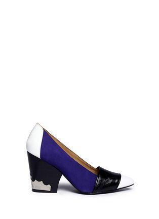 TOGA ARCHIVES - Colour-block embossed leather pumps | Multi-colour Pump High Heels | Womenswear | Lane Crawford - Shop Designer Brands Online