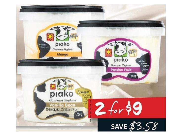 Piako Gourmet Yoghurt Range 500gm