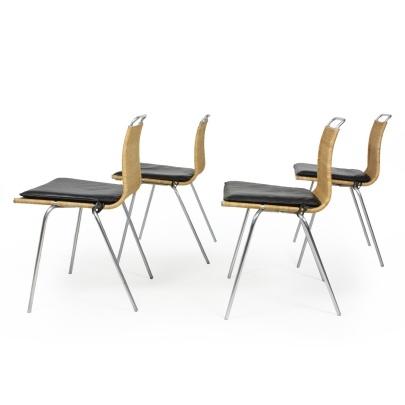 Poul Kjærholm | A set of four PK 1 | Galleri Feldt - Danish Modern |