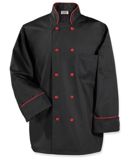 Fashion Piping Chef Coat - Comes in 3 color combinations!