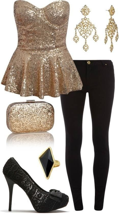 New years outfit. Glitter & Lace