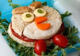 Angry Bird Sandwich Nest! To get the full recipe please visit our blog http://heroes4kids.wordpress.com