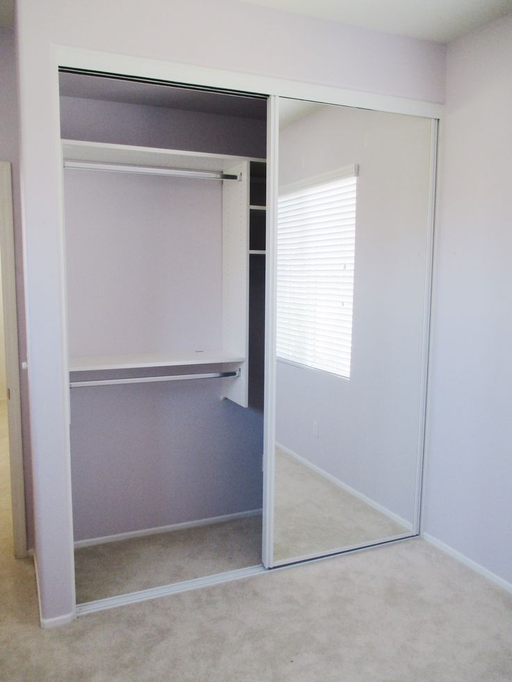 Got A Bare Closet Space In Need Of Some Closet Doors? Check Out These  Concord, White Framed, 2 Track, 2 Panel, Sliding Closet Doors With Mirrors  Recently ...