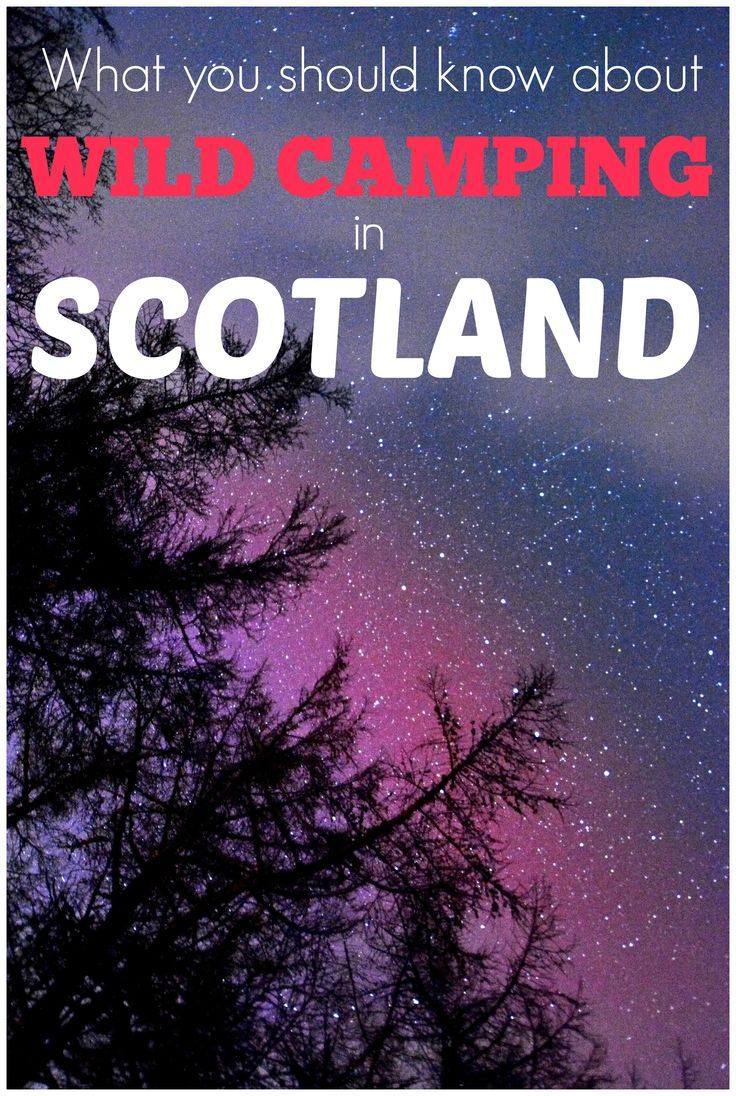 What you should know about Wild Camping in Scotland: Is it legal? | Where you can find some great spots for wild camping | Benefits of wild camping | The practicalities of wild camping in a campervan or motorhome.: