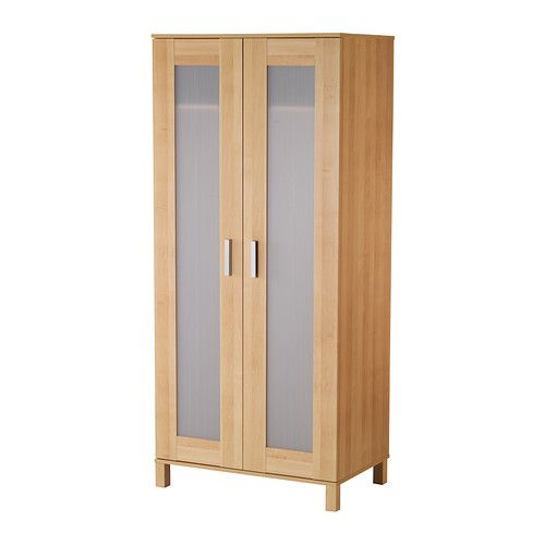 pax wardrobe with 2 doors white fardal high gloss white. Black Bedroom Furniture Sets. Home Design Ideas