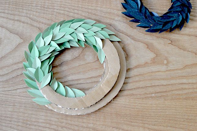 LES COURONNES PRINTANIERES DIY couronnes de feuilles en papier www.lesyeuxenamande.com