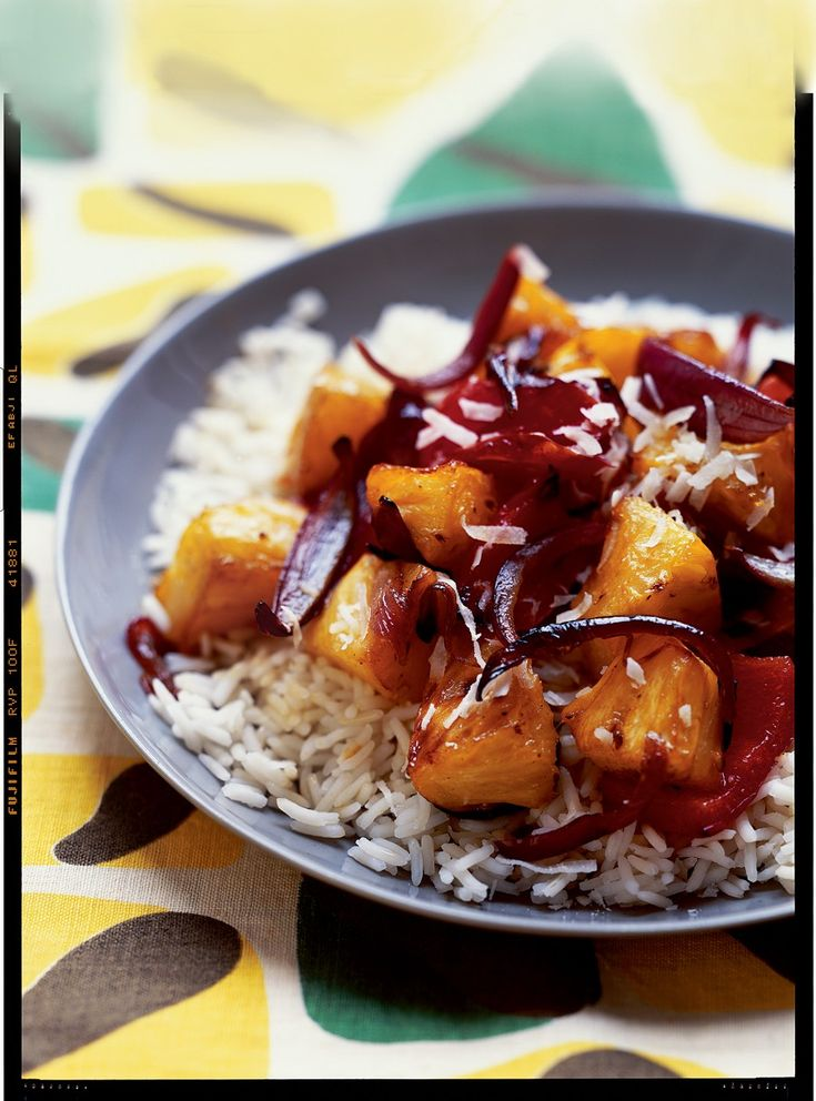 23 best 10 vegan hawaiian recipes images on pinterest hawaiian hawaiian style sweet and sour roasted pineapple and bell peppers forumfinder Images