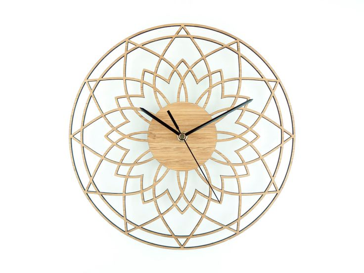 """Wooden Wall Clock, Unique Clock, Modern Wall Clock, Contemporary Clock, Natural Wall Clock - """"Complex Star """" by BeamDesigns on Etsy https://www.etsy.com/listing/223866277/wooden-wall-clock-unique-clock-modern"""