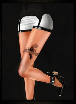 Second Life Marketplace - ..:: TaTS // TaTToo Leg Garter And Gun
