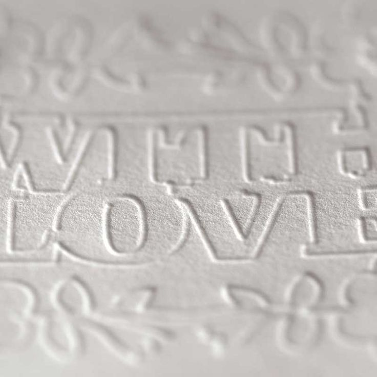 Use the Silhouette Curio's embossing tools to give an elegant faux-letterpress effect to cards, invites, business cards, and more.