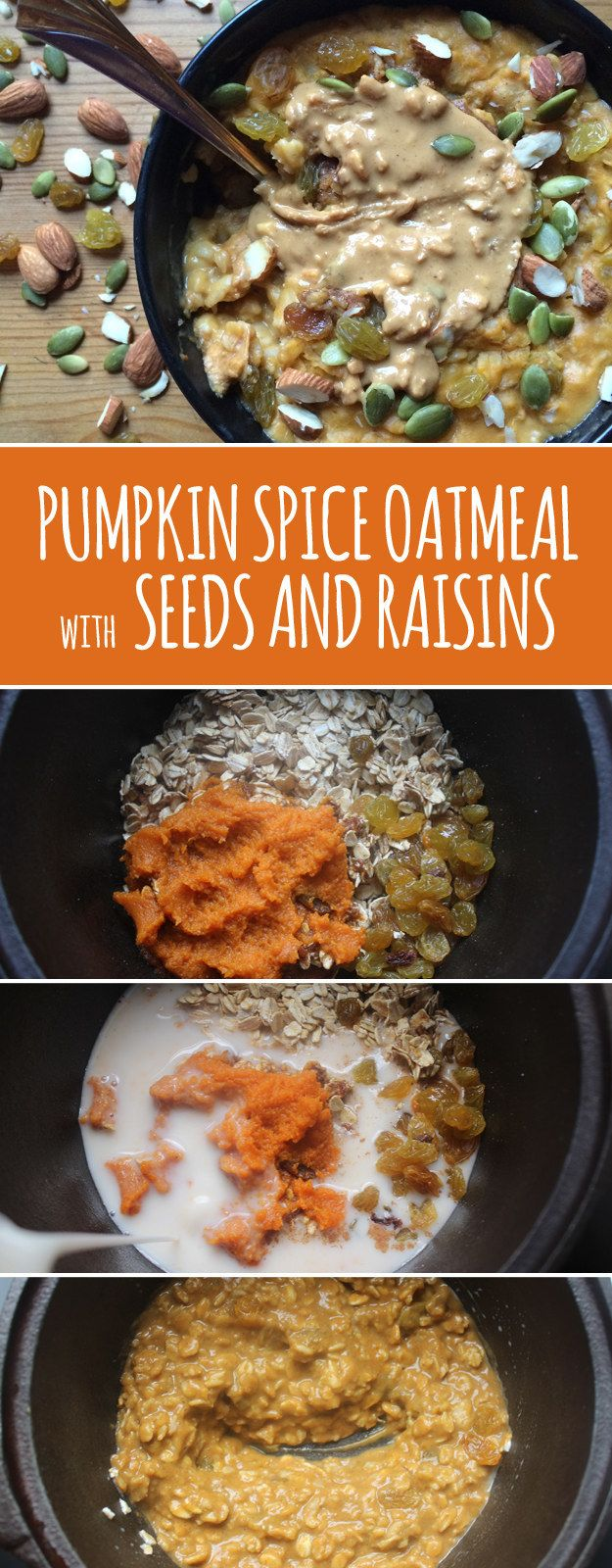 Stir in canned pumpkin to add flavor and a little extra volume. | 13 Insanely Clever Oatmeal Tricks You Need To Try