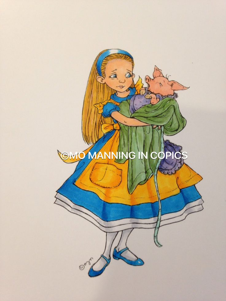 Mo Manning ......Alice and pig baby