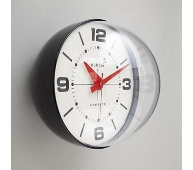 Black Retro Bubble Wall Clock
