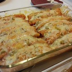 Enchanted Sour Cream Chicken Enchiladas - Allrecipes.com
