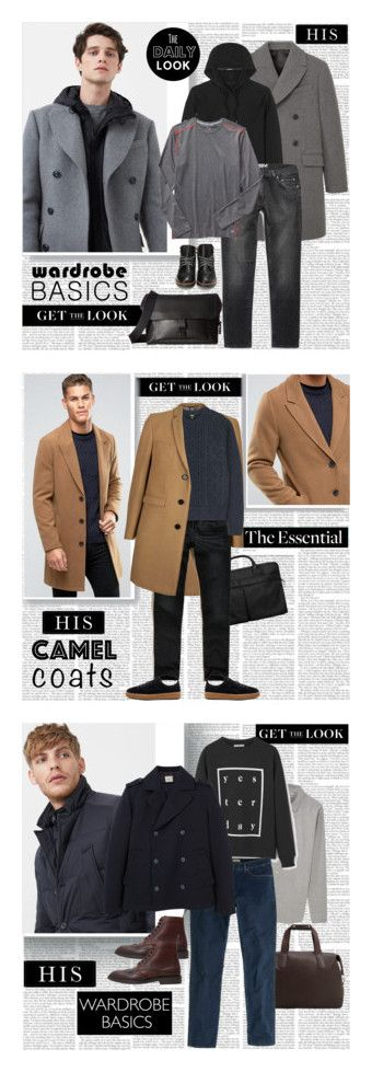 """His Wardrobe Staples"" by stylepersonal ❤ liked on Polyvore featuring MANGO MAN, MANGO, C.P. Company, Acne Studios, Gap, Coach, Universal Lighting and Decor, men's fashion, menswear and MensFashion"