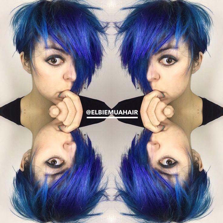 Petrol Blue Pixie Colour Hair I Want Hair Hair