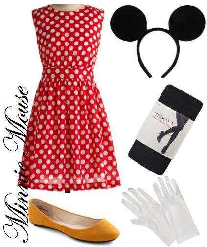 Minnie Mouse costume. mommy Halloween costume. Do matching for girly.