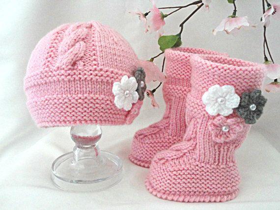 Muster Baby Set neugeborenes Baby Hut Baby Schuhe von Solnishko43