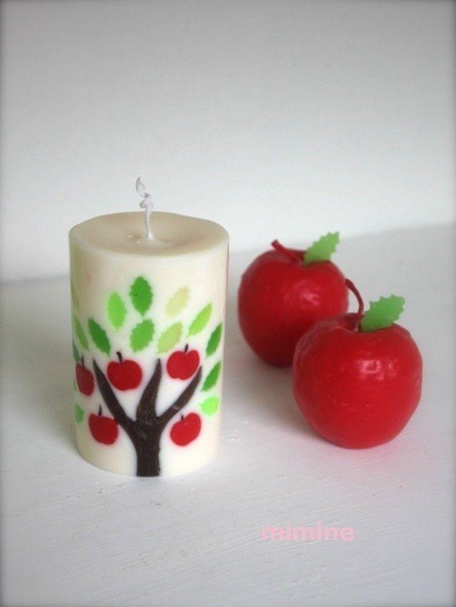 りんごの木 apple ソイキャンドル +-+ミミンヌ