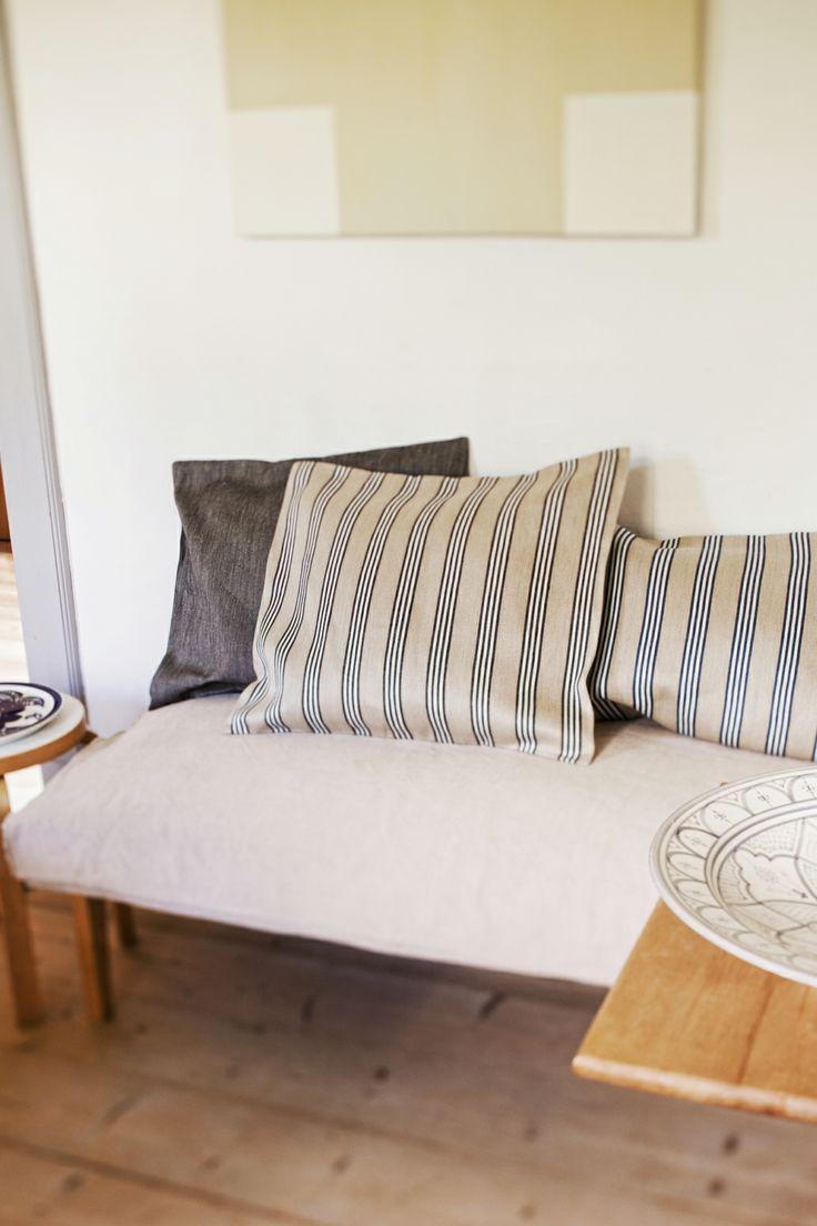 ANNI and PANAMA linen pillowcases, design Marja Rautiainen. Made by Lapuan Kankurit.