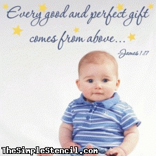 Perfect bible quote for baby's nursery