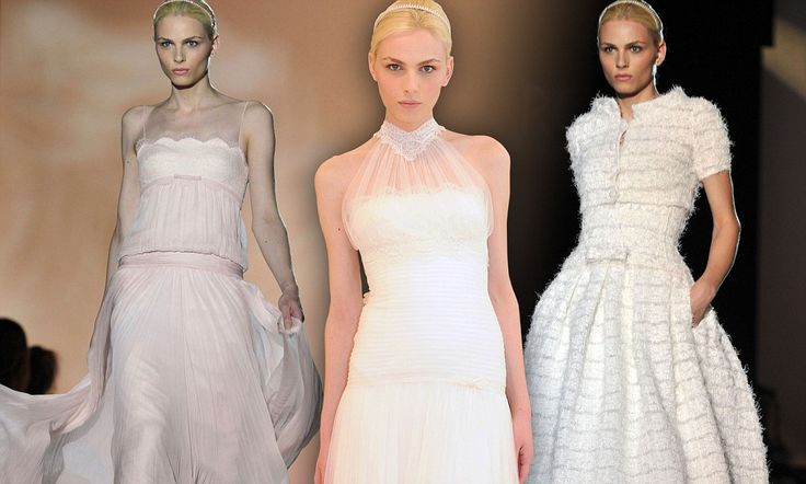 Male order bride: Androgynous model Andrej Pejic steals the show at bridal fashion week in wedding dress