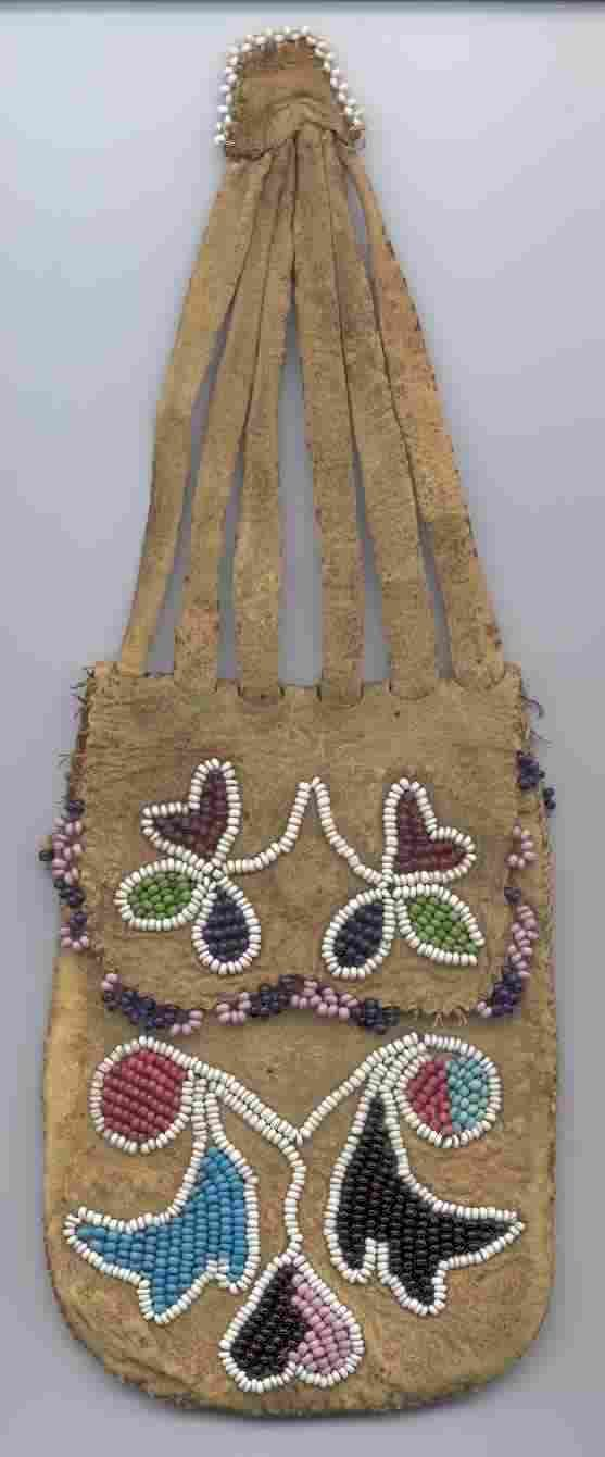 Forest Potawatomi Puzzle Pouch - three views - You can click on the images to see larger detail pictures.