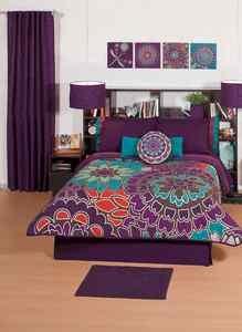 new girls purple flowers comforter sheets bedding set twin 7pcs