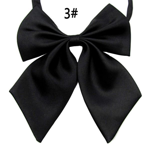 New Arrival Ladies Style Bow Ties For Formal Occasions Solid Classical Style Ties Silk 4 Petal Simplicity Bow Ties For Women