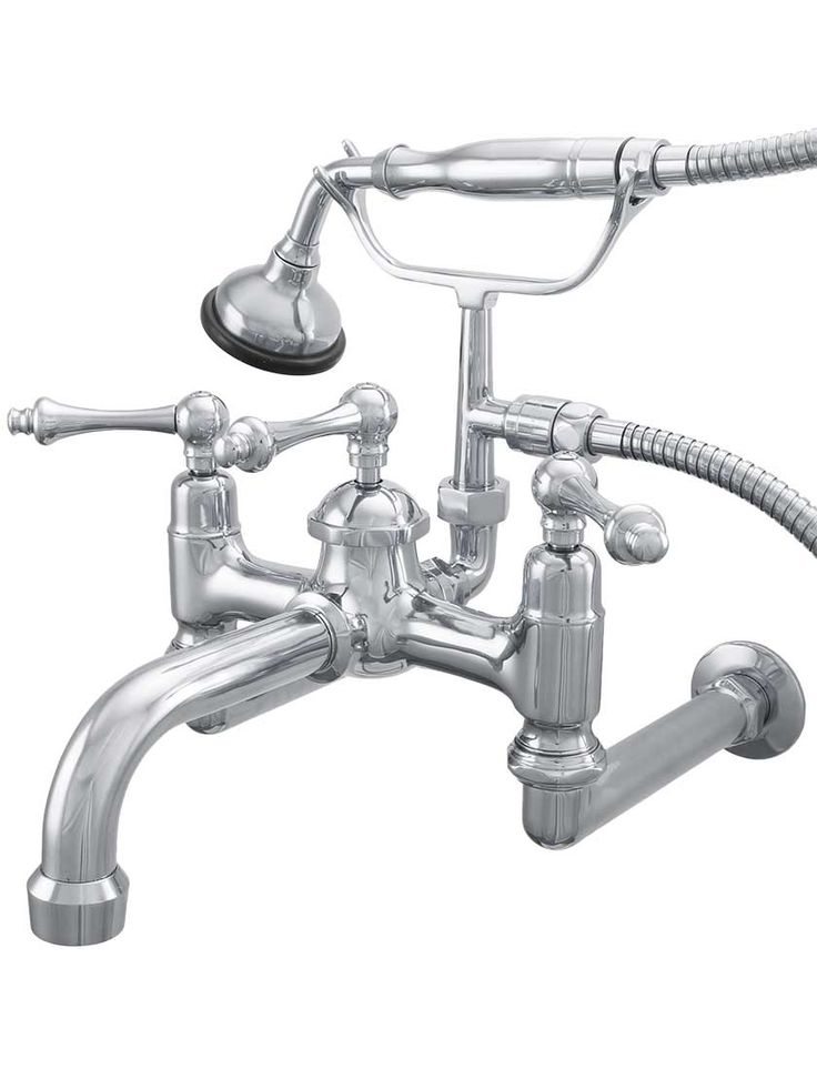 Laguna Wall-Mount Clawfoot Tub Faucet with American Levers | House of Antique Hardware