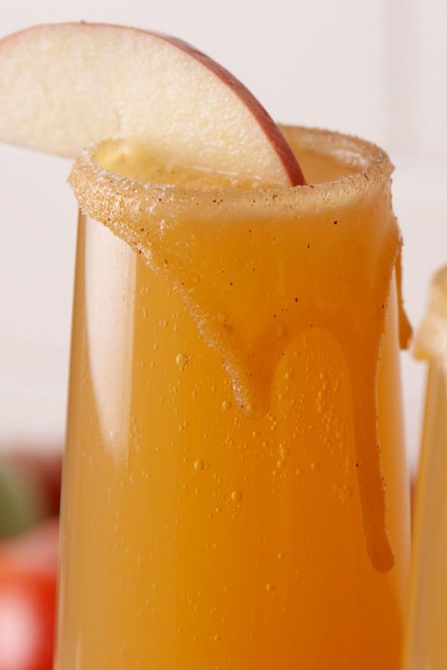 Caramel Apple Mimosas Are The New Apple Cider Mimosas  - http://Delish.com
