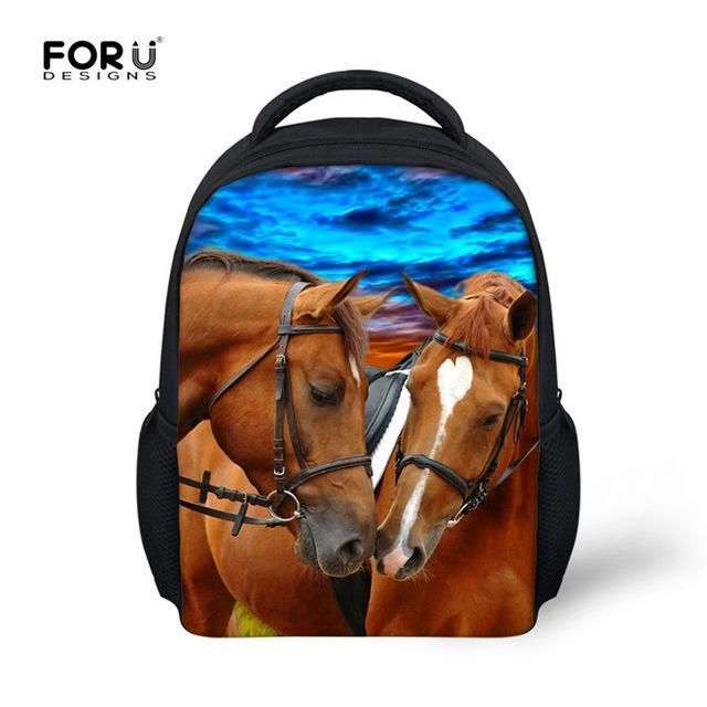 Cool Horse Baby School Bags New Brand Kindergarten Bookbags for Boys  Children 3D Animal Printing Backpack Kids 12 inch Schoolbag  3a3d3857e9fa8