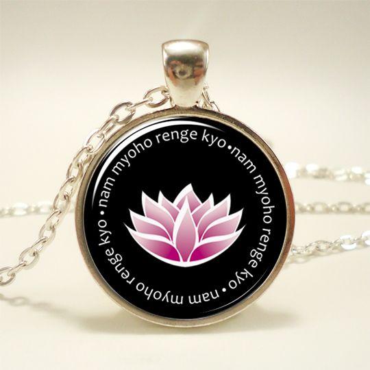 Nam myoho renge kyo original lotus pendant by The Treasure Tower - less than $20