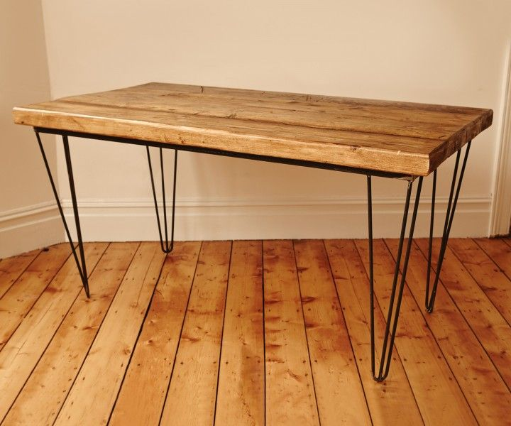 Industrial style reclaimed wood dining table www for Upcycled dining table