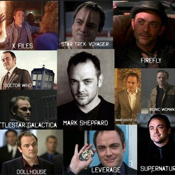 The many fandoms of Mark Sheppard... #1 nerd king. Someone get this man on Sherlock and complete the cycle! <- YES!!!