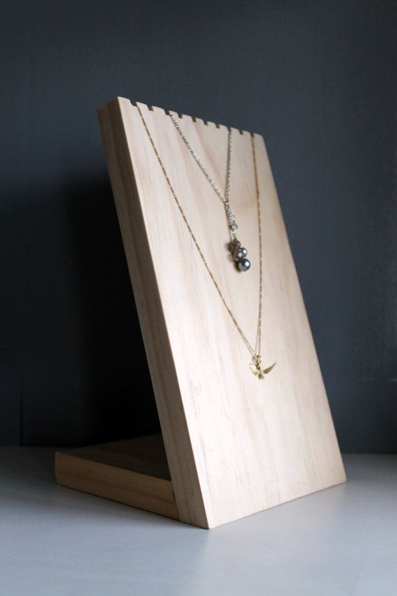 Wooden Necklace Display Board Necklace Bust Jewelry