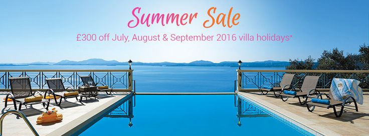 A good opportunity if you fancy sampling a Villa holiday in 2016 (sale ends June 13th)