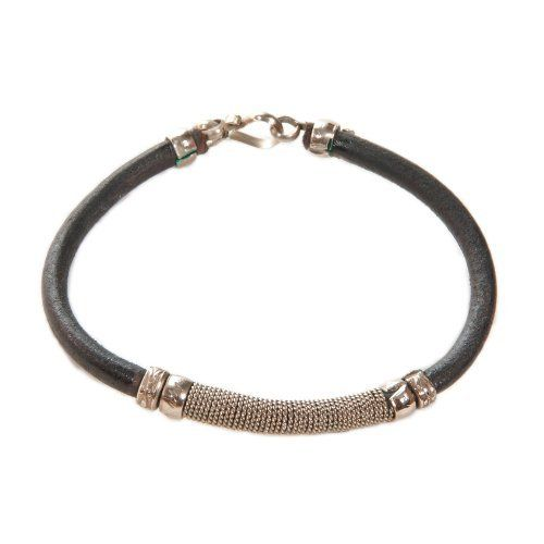 Black Colored Alpaca /Brass Leather Bracelet. Avatar Sterling. $9.99. Alpaca and Leather/Brass Bracelet with S-Clasp.. Save 23% Off!