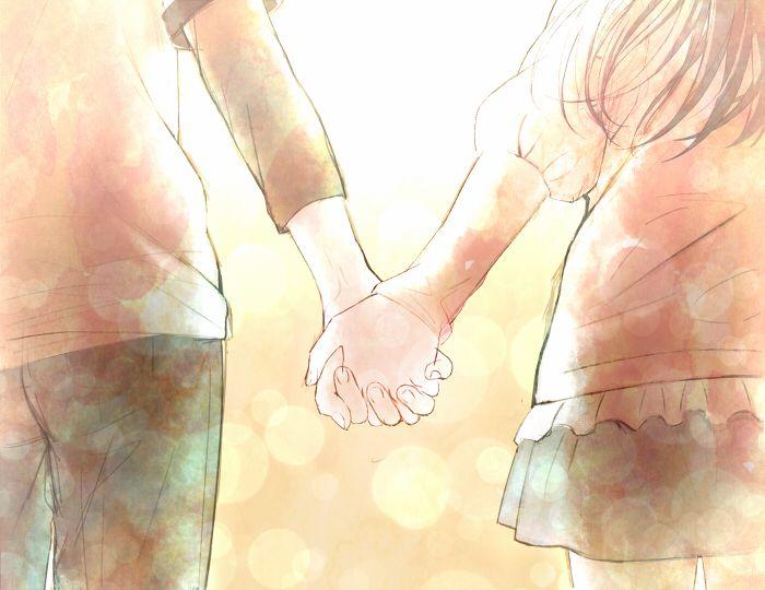 Картинки руки парня и девушки аниме