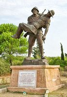 Mehmetçik Memorial shows a Turkish soldier carrying a wounded Australian soldier to the Australian trench before running back to his own line during the Gallipoli Campaign. May there be more compassionate soldiers like this Turkish one.