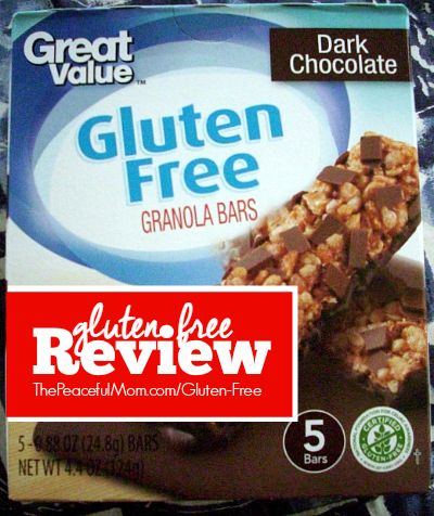 Eating #glutenfree? We taste the products so you know if you want to spend the money or not. This week: Walmart's Great Value Dark Chocolate Granola Bars -- from ThePeacefulMom.com/gluten-free