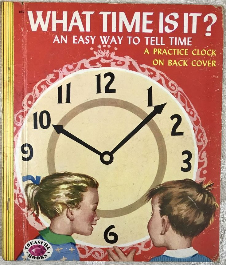 What Time is It? An Easy Way to Tell Time #889 Treasure Books 1954 John Peter