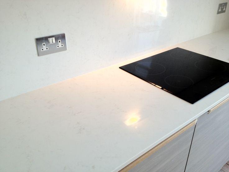 Compac Carrara Quartz Worktops Withan Induction Hob Deco