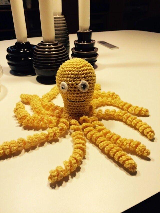 Ruth's lille blog: Hæklet blæksprutte