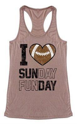 Sunday Funday Football Tank